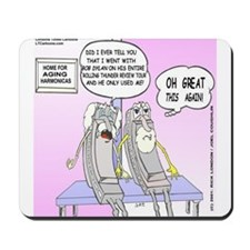Harmonica Old Folks Home Mousepad
