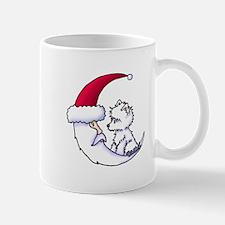 Santa Moon Westie Mug