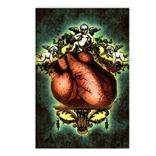 Baroque Human Heart Postcards (Package of 8)