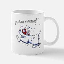 Keep Swimming Westie Mug