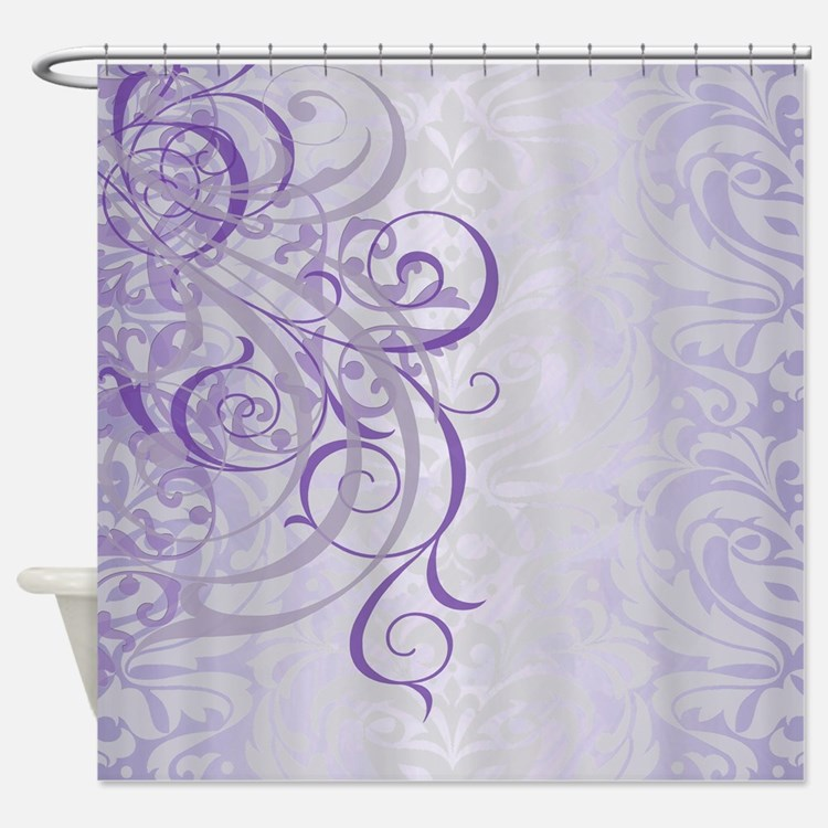 Purple Vintage Shower Curtains Purple Vintage Fabric Shower Curtain Liner