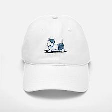 KiniArt Westie Blue Kilt Baseball Baseball Cap