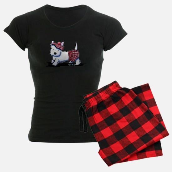 KiniArt Westie Red Kilt pajamas