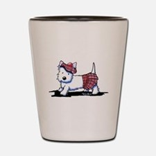 KiniArt Westie Red Kilt Shot Glass