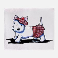KiniArt Westie Red Kilt Throw Blanket