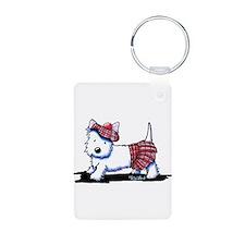 KiniArt Westie Red Kilt Keychains