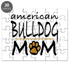 American Bulldog Mom Puzzle
