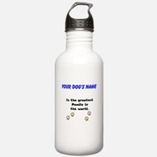 Greatest Poodle In The World Sports Water Bottle