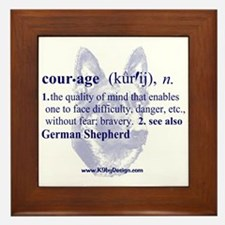 Courage--German Shepherd Framed Tile
