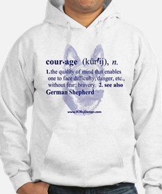 Courage--German Shepherd Jumper Hoody