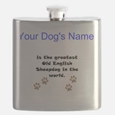 Greatest Old English Sheepdog In The World Flask