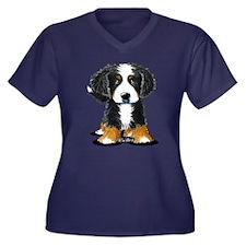 KiniArt Bern Women's Plus Size V-Neck Dark T-Shirt