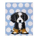 Bernese mountain dog Fleece Blankets