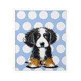 Bernese mountain dog Fleece Blankets