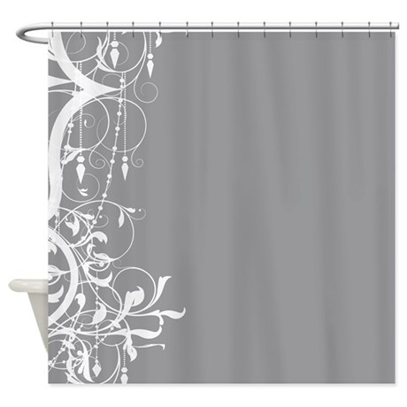 Shabby Chic Grey Chandelier Shower Curtain By Theinspirededge
