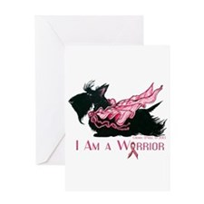 Scottish Breast Cancer Warrior Greeting Card