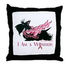 Scottish Breast Cancer Warrior Throw Pillow