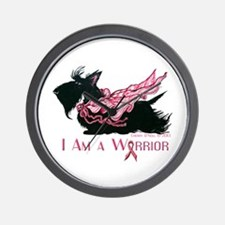 Scottish Breast Cancer Warrior Wall Clock
