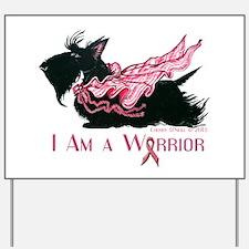 Scottish Breast Cancer Warrior Yard Sign