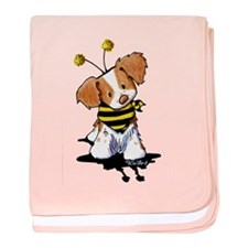 Brittany Spaniel Bee baby blanket