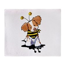 Brittany Spaniel Bee Throw Blanket