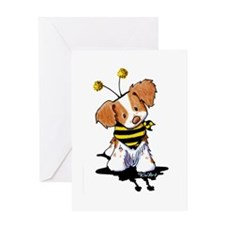 Brittany Spaniel Bee Greeting Card