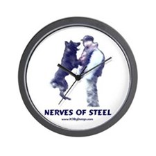 Nerves of Steel Wall Clock