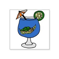 Sea Turtle in Margarita Sticker