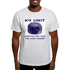 Narcotics Dog Team Ash Grey T-Shirt