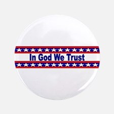 """In God stripes 3.5"""" Button"""