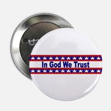 """In God stripes 2.25"""" Button"""