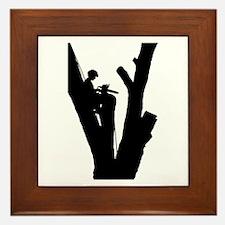 Tree Cutter Framed Tile