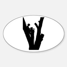 Tree Cutter Sticker (Oval)