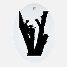 Tree Cutter Ornament (Oval)