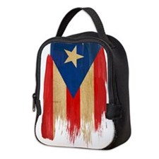 Puerto Rican Flag Neoprene Lunch Bag