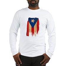 Puerto Rican Flag Long Sleeve T-Shirt