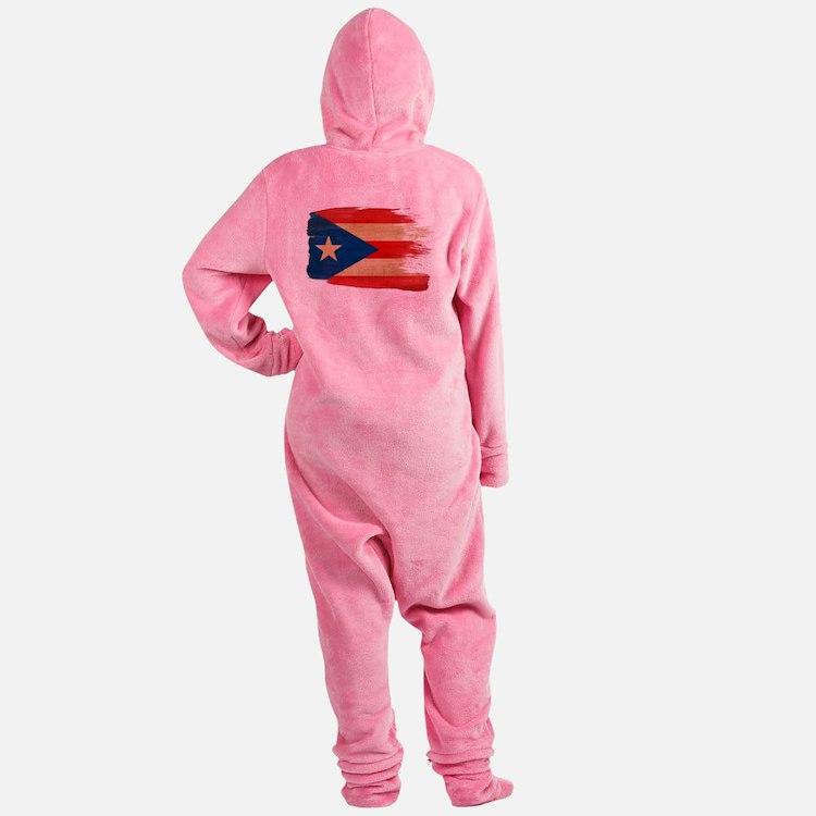 Puerto Rican Flag Footed Pajamas