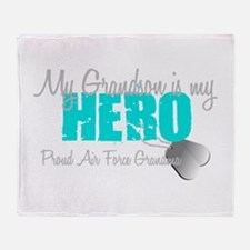 AF Grandma grandson my hero Throw Blanket