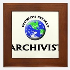 World's Sexiest Archivist Framed Tile