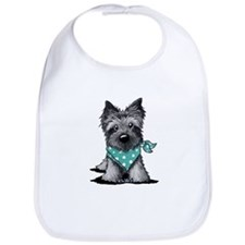 Ash Cairn Terrier In Dots Bib