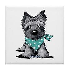 Ash Cairn Terrier In Dots Tile Coaster