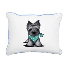 Ash Cairn Terrier In Dots Rectangular Canvas Pillo