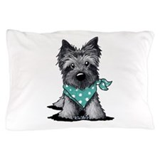 Ash Cairn Terrier In Dots Pillow Case