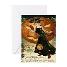 Victorian Halloween Card Greeting Cards