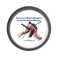 Bruises by Malinois Wall Clock