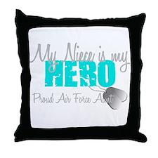 AF Aunt Niece Hero Throw Pillow