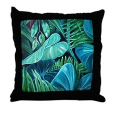 New Leaf Green Throw Pillow