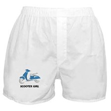 Scooter Girl (Blue) Boxer Shorts
