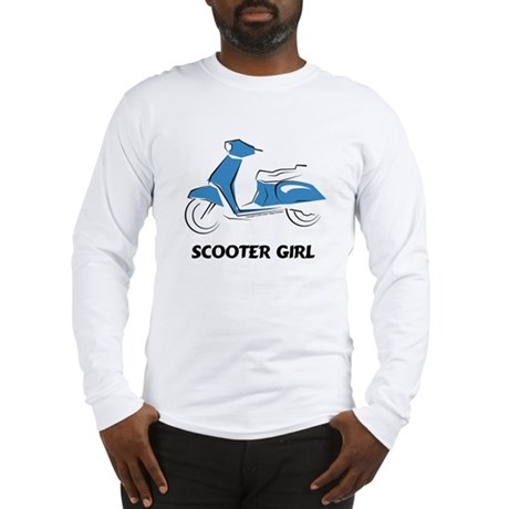 Scooter Girl (Blue) Long Sleeve T-Shirt