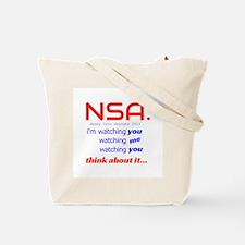 NSA Spy Baby Tote Bag